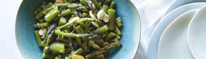 ASPARAGUS with MISO LEMON DRESSING and MARCONA ALMONDS – Terry ...