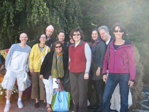 Our group getting ready to ascend upon the Great Barrington Farmers Market!