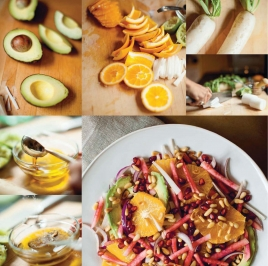 Avocado, Orange and Daikon Salad with Cumin Lime Vinaigrette-3