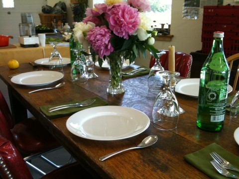 A table set for our delicious clean food dinner.